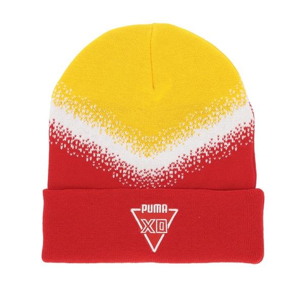 e040bb40 Puma Accessories | X The Weeknd Red Yellow Knit Beanie Hat | Poshmark